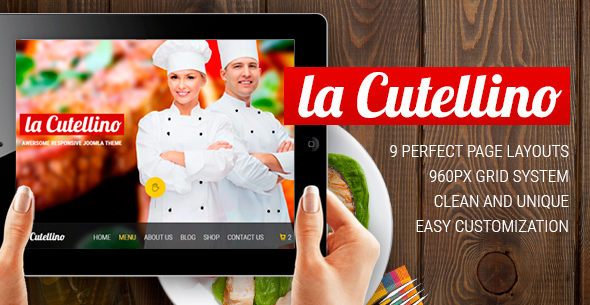 la Cutellino - Restaurant/Bar PSD Template